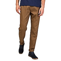 Burton - Tobacco relaxed tapered chinos