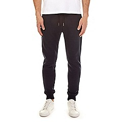 Burton - Navy brushed back joggers