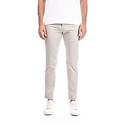 Burton - Stone satin skinny fit trousers