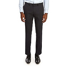 Burton - Navy grid checked skinny fit trousers