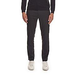 Burton - Navy skinny check stretch trousers