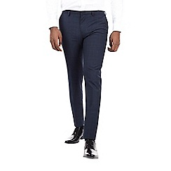 Burton - Navy skinny fit check smart trousers