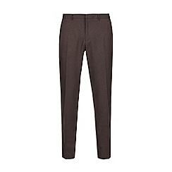 Burton - Brown pinstriped skinny fit trousers