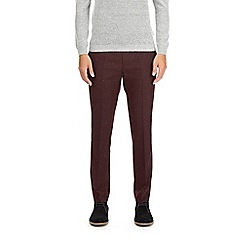 Burton - Burgundy skinny fit flecked trousers