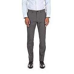 Burton - Skinny dogtooth cotton trousers