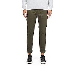 Burton - Khaki skinny fit 5 pocket stretch chinos