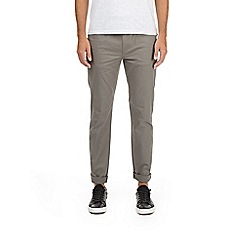 Burton - Grey skinny fit 5 pocket stretch chinos