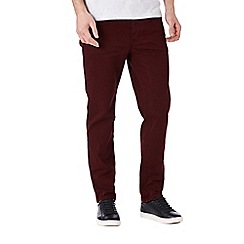 Burton - Burgundy coloured skinny fit jeans