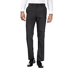 Burton - Grey regular fit mini check trousers