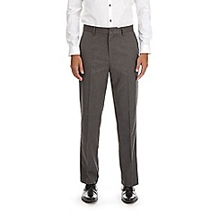 Burton - Light grey regular fit twill trousers