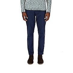Burton - Blue stretch oxford chinos