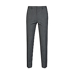 Burton - Grey tapered leg jaspe trousers