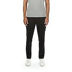 Burton - Black tapered fit drawstring trousers