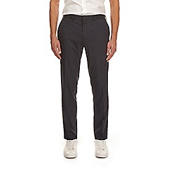 Burton - Grey prince of wales slim fit trousers