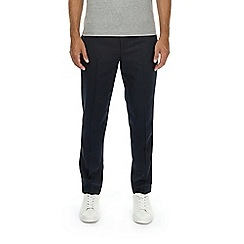 Burton - Navy tapered fit drawstring trousers