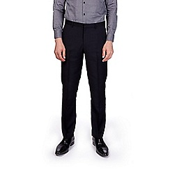 Burton - Navy slim fit dobby trousers