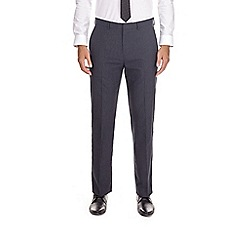 Burton - Navy tailored fit grid checked trousers