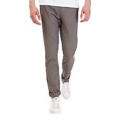 Burton - Taupe tapered slim fit trousers
