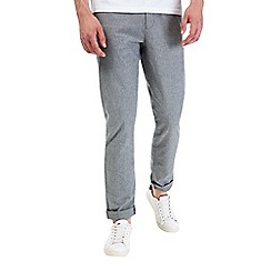 Burton - Light grey tapered slim fit trousers