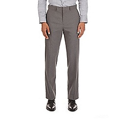 Burton - Light grey check tailored fit trousers