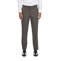 Burton - Grey tailored fit twill trousers