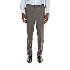 Burton - Grey tailored fit herringbone trousers