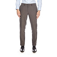 Burton - Charcoal skinny fit herringbone trousers