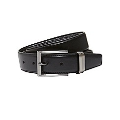 Burton - Black belt with fabric back