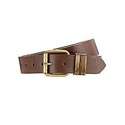 Burton - Brown textured jeans belt