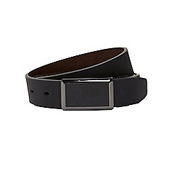 Burton - Reversible gunmetal buckle belt