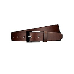 Burton - Brown gunmetal buckle belt