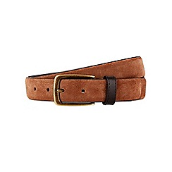 Burton - Montague burton brown suede belt