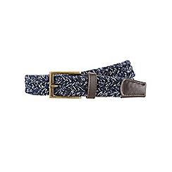 Burton - Navy flecked weave belt