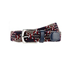 Burton - Navy burgundy weave belt