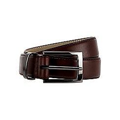 Burton - Premium slim leather brown belt
