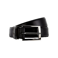 Burton - Premium slim leather black belt