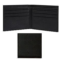 Burton - Black perforated bifold wallet
