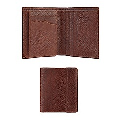 Burton - Premium brown distressed leather wallet