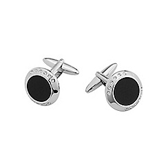 Burton - Black jewel cufflinks