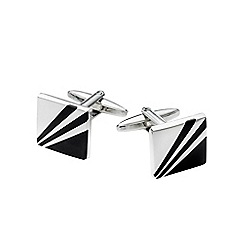 Burton - Square black cufflinks