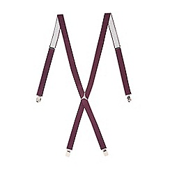 Burton - Burgundy polka dot braces
