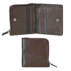 Burton - Brown and black leather wallet