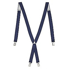 Burton - Navy & white striped braces