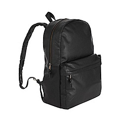 Burton - Montague burton black leather rucksack