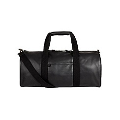 Burton - Montague burton black leather holdall