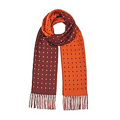 Burton - Burgundy dotted scarf