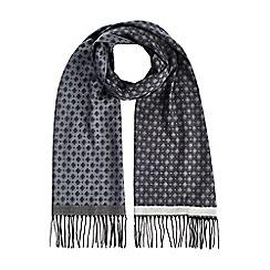 Burton - Grey diamond jaquard scarf