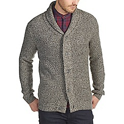 Burton - Grey chunky shawl neck cardigan