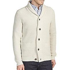 Burton - Oatmeal chunky shawl neck cardigan