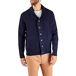 Burton - Blue shawl neck cardigan